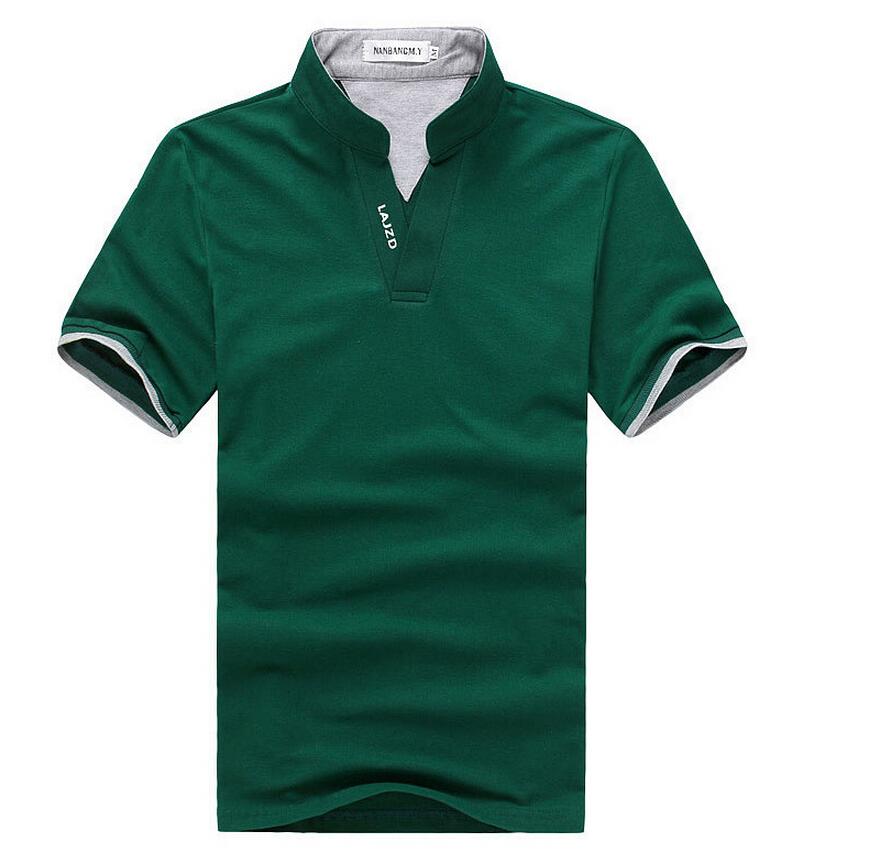 Stand Collar Shirts Designs : Summer cotton short sleeve brand men t shirt sport
