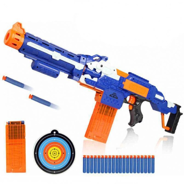 Soft Bullet Kids Toys Gun Sniper Rifle Nerf Plastic Gun Electric Gun Toy Christmas Birthday Gift Toy For Child