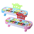 14 Keys Simulation Electronic Piano Keyboard Kids Children Flashing LED Light Musical Development Educational Toy For
