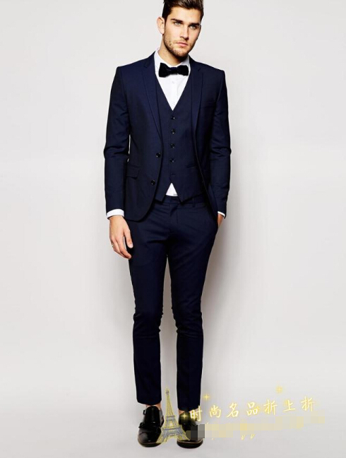 Men 39 S Suits Simple Style Fashion Gentleman Slim Tuxedo