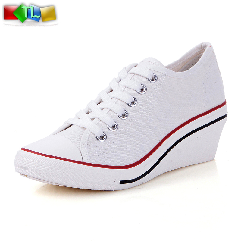 Elevator womens 2014 low platform white black wedges mint green womens shoes canvas shoes<br><br>Aliexpress