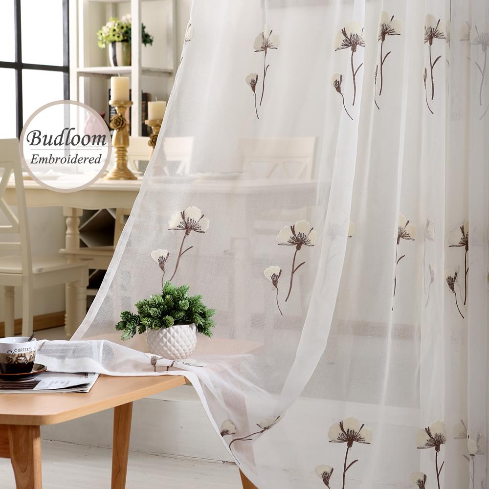 Promoci n de cortinas de algod n puro compra cortinas de for Cortinas transparentes