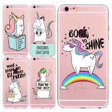 Buy Transparent Soft Unicorn Cute Angel Lovely Unicorn Horse Pattern Cases iphone 5 5s SE 6 6s Case 7 7plus 6Plus 6sPlus Fondas for $1.24 in AliExpress store