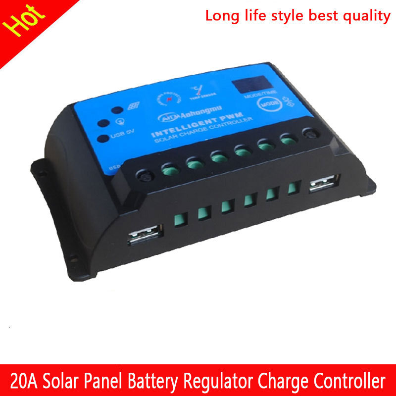 Best 20A Solar Panel Battery Regulator Charge Controller 12V 24V Auto Switch<br><br>Aliexpress