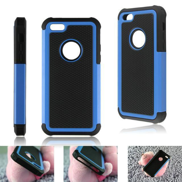 Hot Luxury Fashion Football Pattern PC Silicone Hybrid Phone Back Case Cover Shell with Hole Design for Apple iPhone 5C