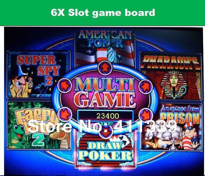 multi 6x poker game board slot game plate PCB(China (Mainland))