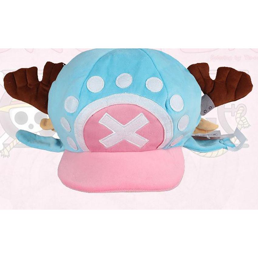 2016 New Fashion Anime One Piece Tony Tony Chopper Cap Cosplay Plush Winter Warm Hat Unisex Red Blue Caps Gift(China (Mainland))