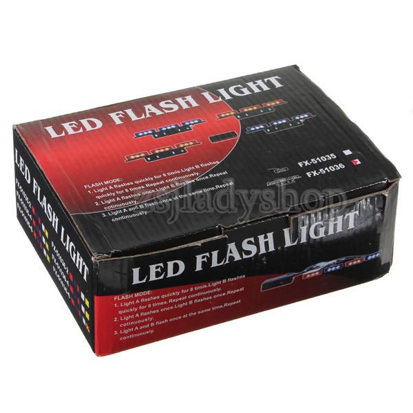 54 LED Fire Car Deck Truck Dash Strobe Flash Warni...