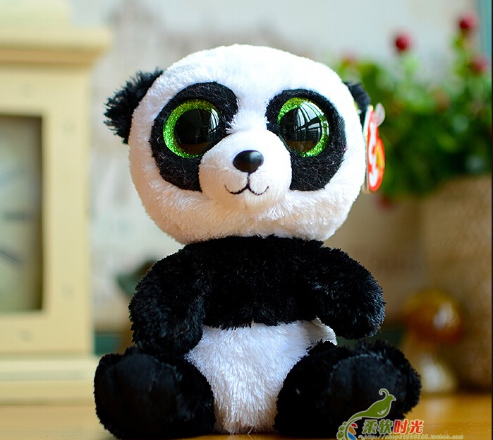 Lovely panda doll of objects big eyes panda plush toys the child's birthday present Company gift gift free shipping(China (Mainland))