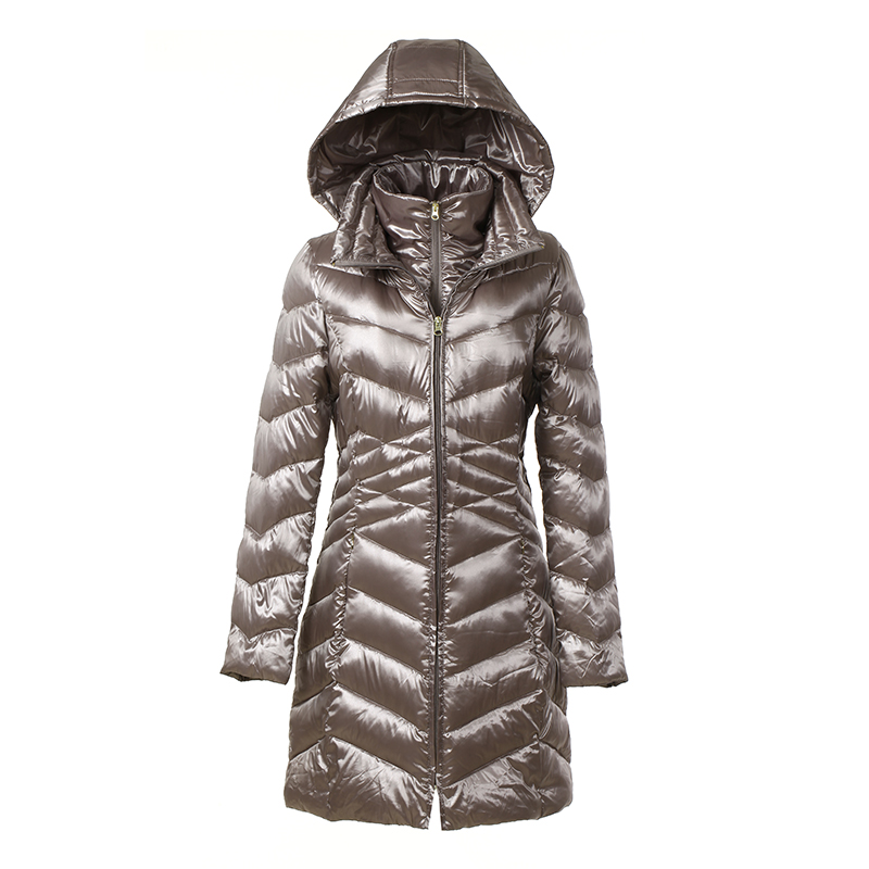 New 2016 Fashion Long Sleeve White Duck Down Winter Jacket Women Long Parkas Casual Thin Hooded Outerwear Plus Size Warm Coat