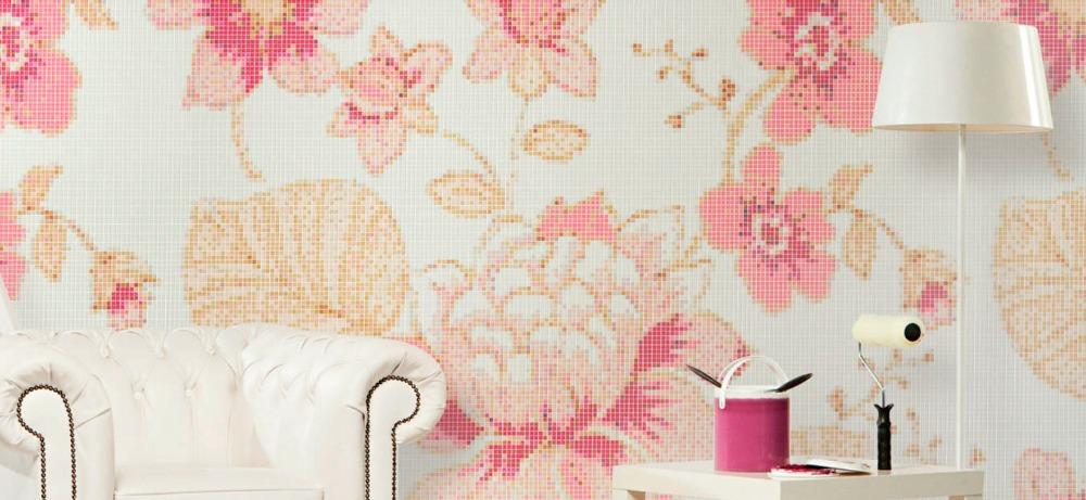 Online kopen wholesale roze tegel vloer uit china roze tegel vloer groothandel - Rode mozaiek tegel ...