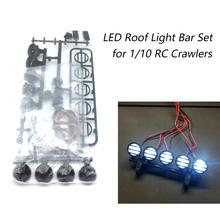 Buy RC Car Roof LED Light Bar Set 5 Spotlight 1/10 RC Crawler TAMIYA CC01 Axial SCX10 90046 RC4WD D90 for $5.49 in AliExpress store