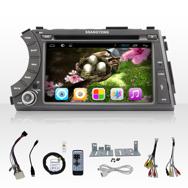 2 din Car PC Free Shipping, HD Capacitive Screen Android 4.2 Auto PC Car DVD GPS For Ssangyong Actyon Kyron With 3G WiFi(China (Mainland))