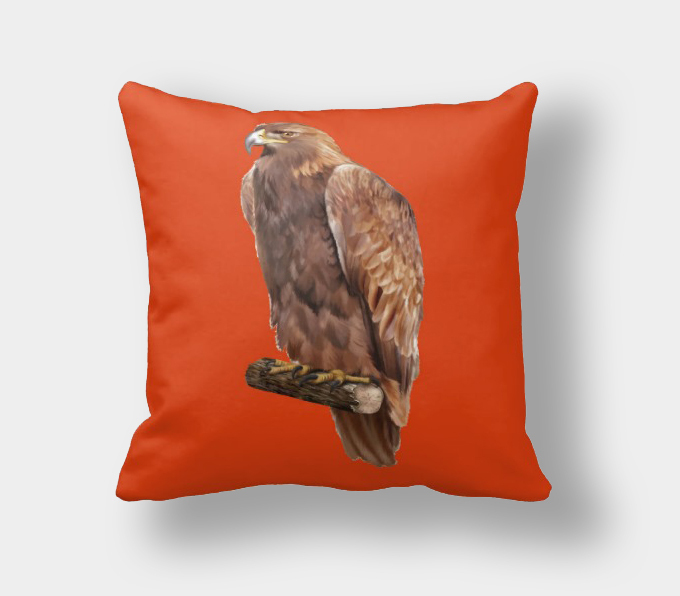 Navy Blue And Orange Throw Pillows : Coral/Turquoise/orange/navy blue decorative bird pillows Kooshen for Cushions Online