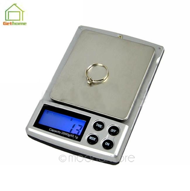 New 2000g x 0.1g Electronic Digital Jewelry Scales Weighing Portable Kitchen Scales Balance Dropship Free Shipping Y50*DA0908#M5(China (Mainland))