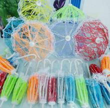 """10 unids/lote hermosa muñeca de encaje paraguas decoración accesorios por 11 """" 30 cm Girl Dolls 1 / 6 paraguas muñeca niñas regalo excelente"""