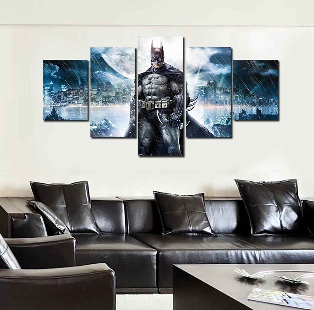 2016 hot framed printed batman movie poster group painting for Room decor lazada