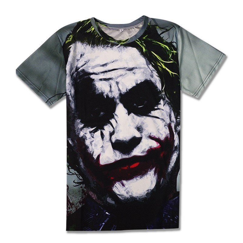 Halloween Joker 3D T shirt Casual Funny Anmie Character Joker Poker 3D T-shirt Summer style Full Printing Tops Tees (2)