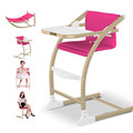 Multifunctional Baby Dining Chair Adjustable Folding Baby Feeding Chair Widen Seat Baby High Chair Table Seat