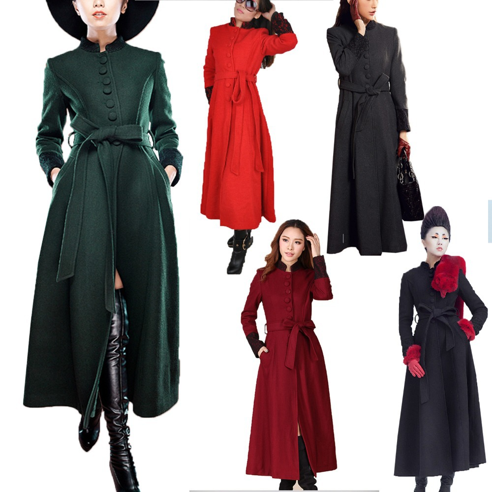 Lastest WomensBlackTrenchCoatLadyLongSleeve Uploaded By Dress Journal