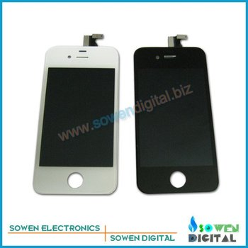 For iPhone 4S LCD Display+Touch Screen Glass +Frame,100% Original LCD,10pcs/lot,DHL or UPS free shipping ,100% gurantee no spot