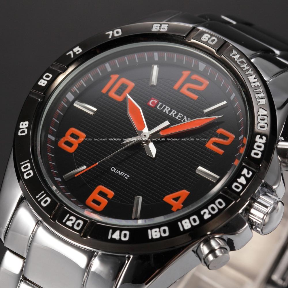 HOT SALE CURREN Men Watches Top Brand Luxury Men Military Wrist Watches Full Steel Men Sports Watch Waterproof Relogio Masculino(China (Mainland))