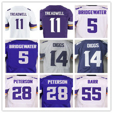 Minnesota Vikings,Men's 11 Laquon Treadwell 5 Teddy Bridgewater 14 Stefon Diggs 28 Adrian Peterson 55 Anthony Barr elite s(China (Mainland))