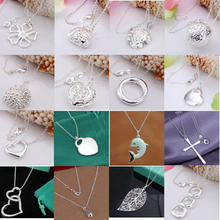A11 // New Big promotion wholesale fashion 925 jewelry silver plated Necklace, Popular Factory Price hot sale Pendant Necklace(China (Mainland))