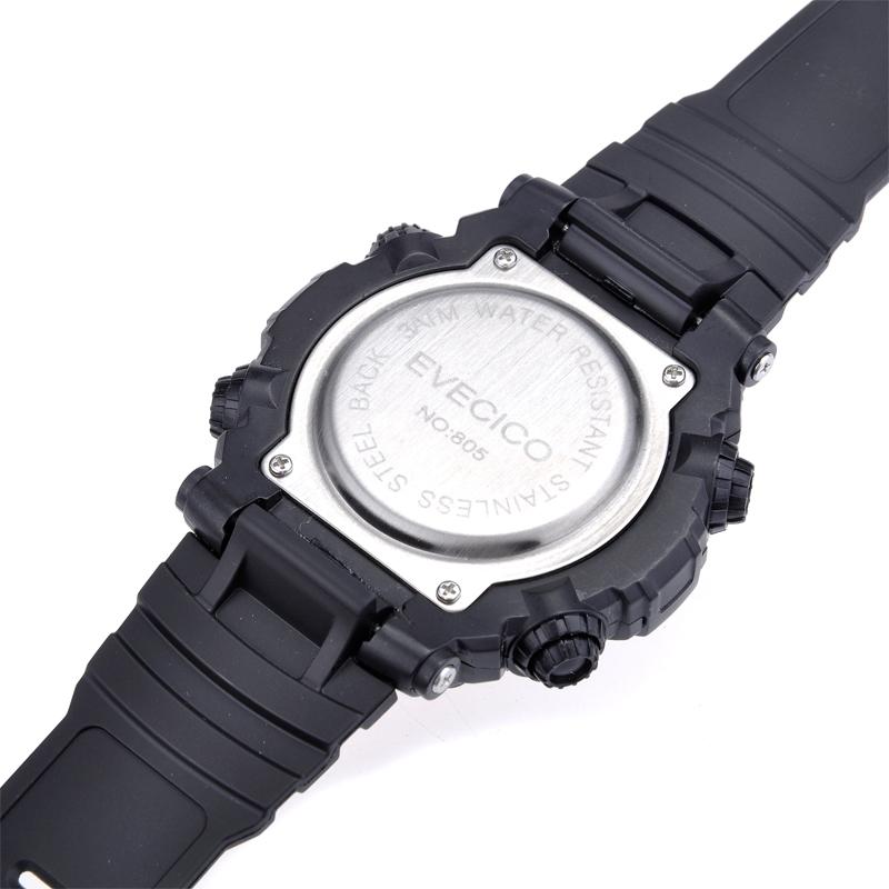 Световой будильник led спортивный многофункциональный большой циферблат водонепроницаемые часы для ребенка тенденция мужские часы