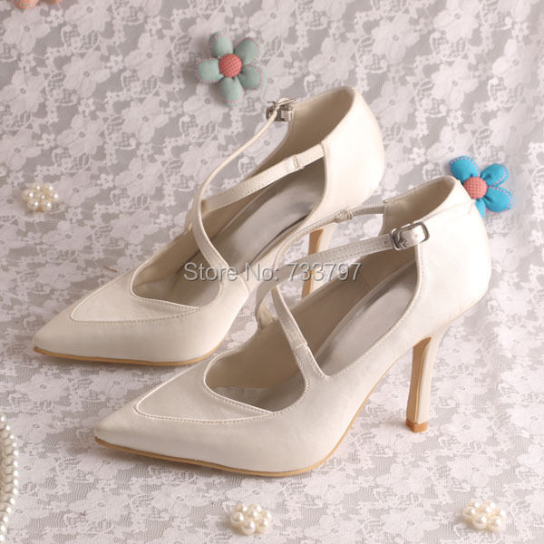 Wedopus MW896 Custom Handmade Italian Style Thin Heel Women Wedding Shoes Pointed Toe