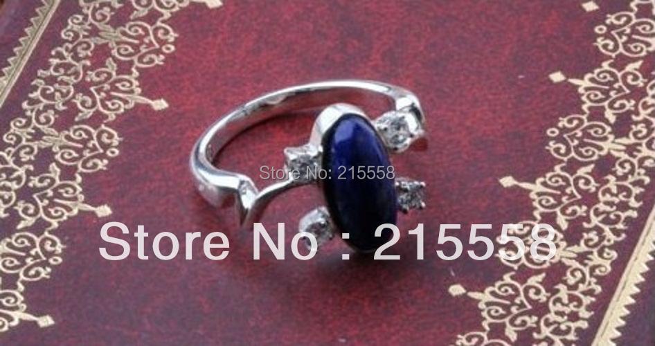 Lapis Lazuli Ellipse ring Elena Gilbert Ring The Vampire Diaries Vintage Alloy Retro Punk Ring Gift for Women ZR7(China (Mainland))