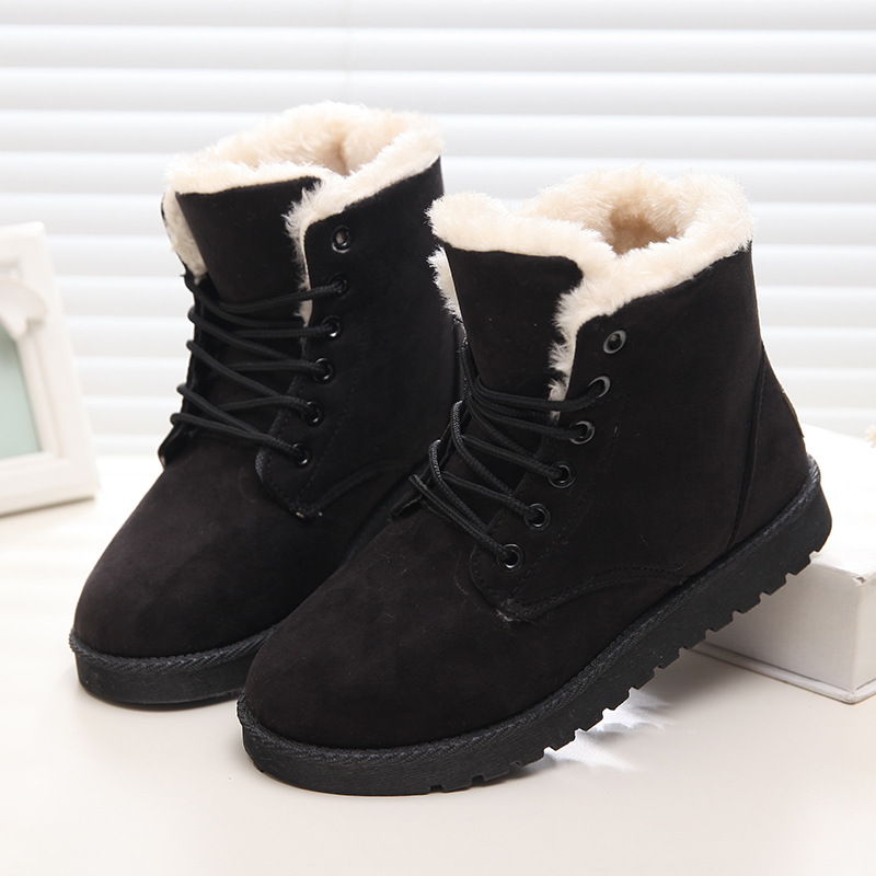 New Warm Winter Boots Women Ankle Girls Boots Classic Suede Snow Boots Female Fur Insole High Quality Botas Mujer(China (Mainland))