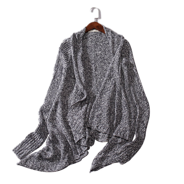 2016 Europe Brand Spring Womens Knitted Cardigan High Quality Solid Color Scarf Collar Cardigans Sweaters TopsОдежда и ак�е��уары<br><br><br>Aliexpress