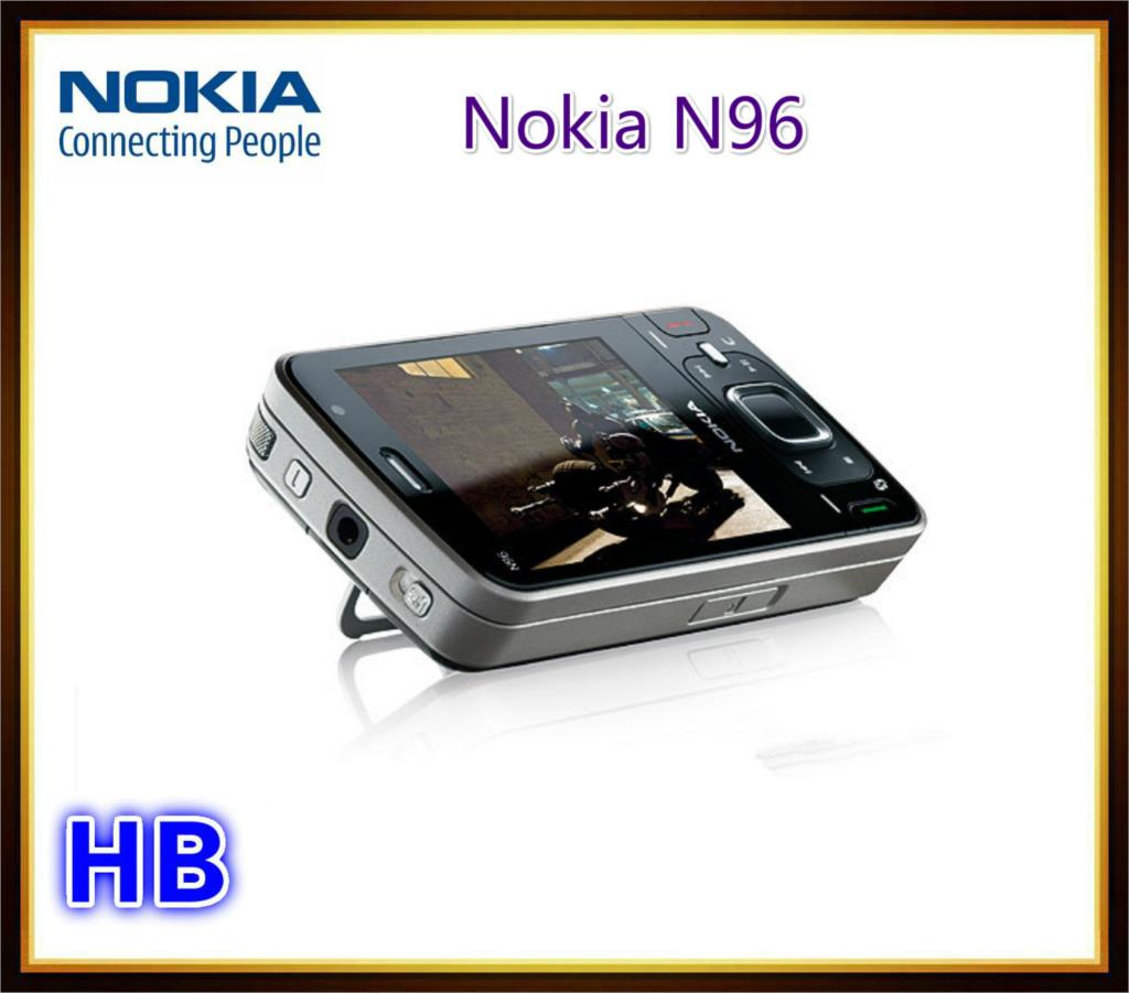 Unlocked N96 Nokia N96 Mobile phone With 16GB Storage 3G WIFI GPS Camera 5MP Cell phone(China (Mainland))
