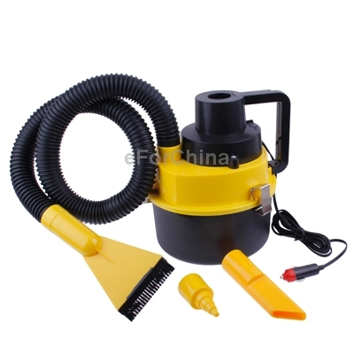 Versatile Brush, Crevice and Nozzle Attachment Heads 12V Auto Wet Dry Canister Vacuum Cleaner with Cigarette Lighter Plug
