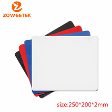2016 New Rubber Hot selling New 250*200*2mm Universal Mouse Pad Mat for Laptop Computer Tablet PC Black
