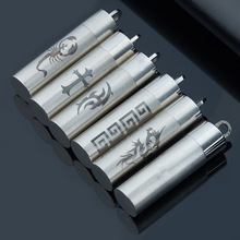 Titanium Stainless Steel Pill Case Holder Cylinder Tube Cremation Urn Pendant Diffuser Pendant(China (Mainland))
