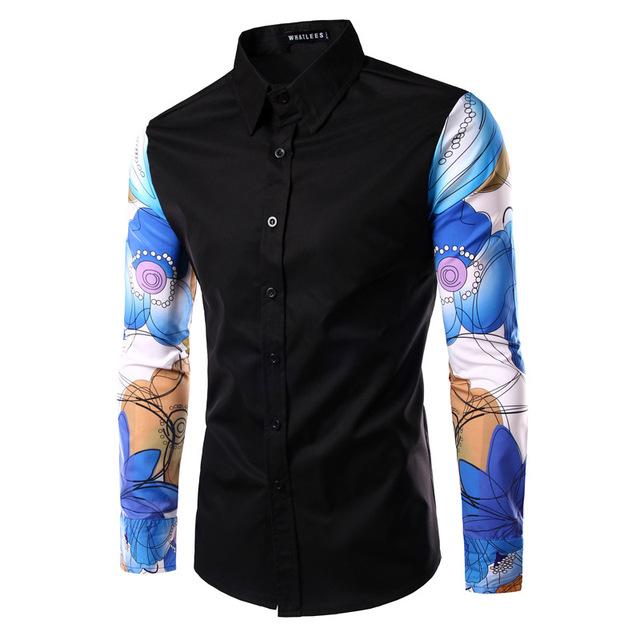 2016 Camisa Camisas мужская Высокого Качества Вскользь Рубашка Homme Мода Длинными ...