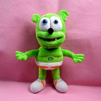 Бесплатная доставка 2015 горячая распродажа 30 см клейкий медведь голос Pet забавный игрушки зондирования плюшевые игрушки лучший для детей HT2059