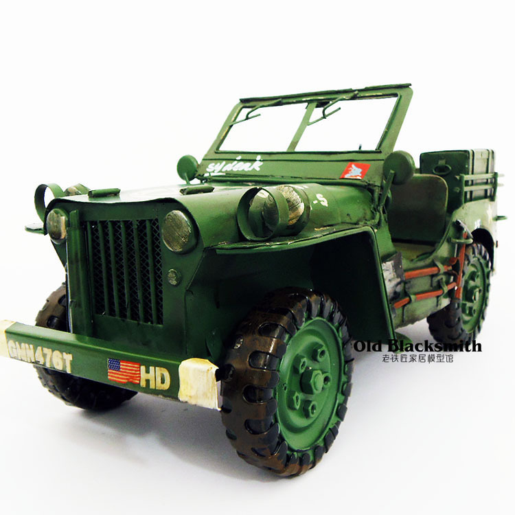 Brand New Classical World War II USA WILLYS JEEP Handmade Metal Artefact Car Model Toy For Collection/Gift/Decoration(China (Mainland))