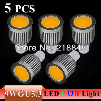 5PCS/LOT hot sales Energy saving 9W/7W GU5.3 COB LED Ceiling light/down light  Cool/Warm White 550-650LM  Free shipping