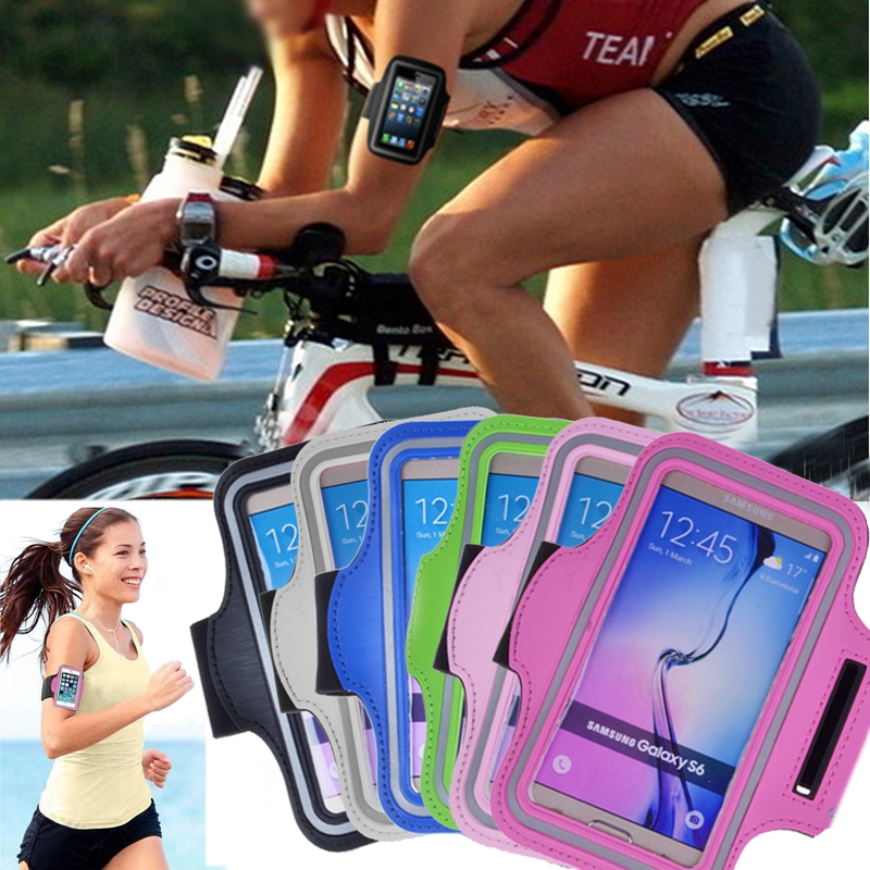 Outdoor Sport Running Arm Band GYM Strap Holder Case For Samsung Galaxy S6 S6 Edge S7 Jogging Riding Cover Phone Bags Brassard(China (Mainland))