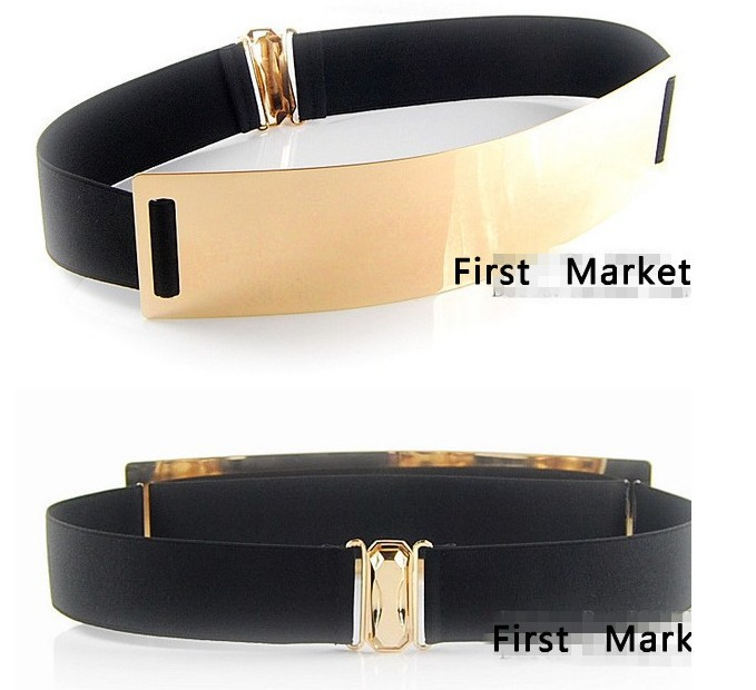 2015 new arrival Europe&America gold metal mirror face belts for sexy women fashion Apparel Accessories free shipping(China (Mainland))