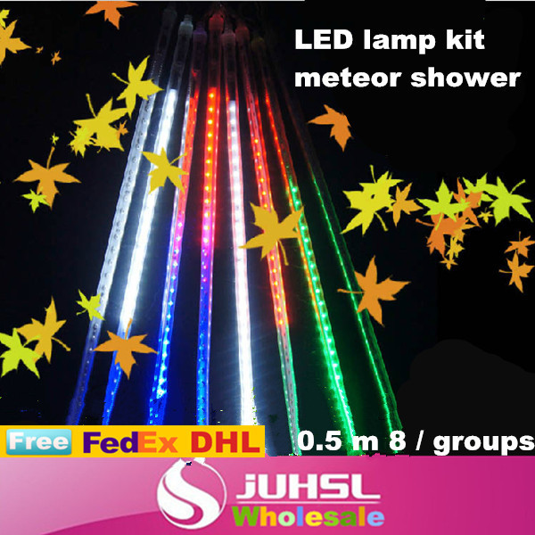 Outdoor waterproof LED lamp kit meteor shower, super bright SMD meteor shower, 0.5 m * 8 group, decorative landscape trees, * 10(China (Mainland))