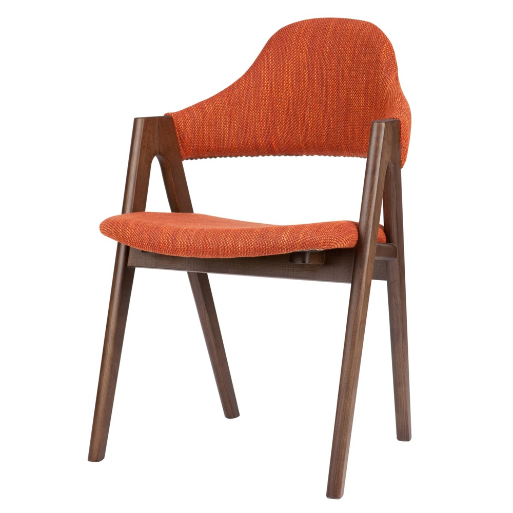 Ash Wood Chair Dining Chair Fabric Thailand Minimalist Modern Style Cafe Bar