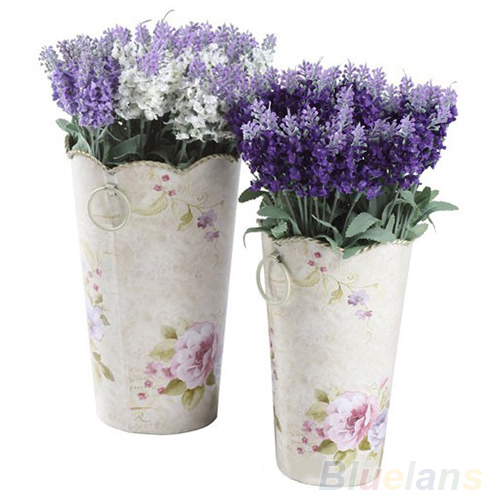10 Heads Artificial Lavender Silk Flower Bouquet Wedding Home Party Decor for Display 01P1 4AXI