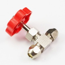 new! Tube OD 6mm Nickel-Plated Brass Swagelok Plug Needle Valve(China (Mainland))