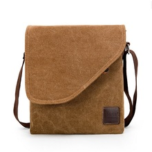 Hot European and American Style Vintage Canvas Bags Men's Casual Single Shoulder Bags Tablet PC Bag LJ-098