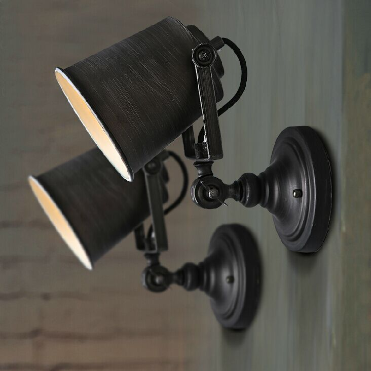 Robot Vintage wall light fashion bedroom bedside lamp for home decoration neoclassical wall sconce lighting fixture