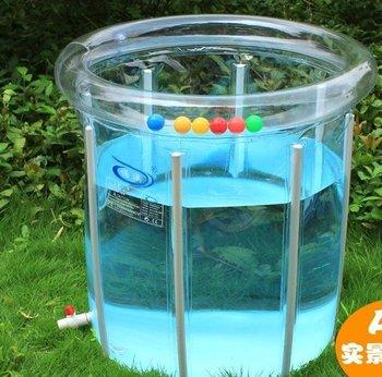 Inflatable swimming pool +swim ring for kids  PVC